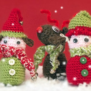 Wooly Christmas characters