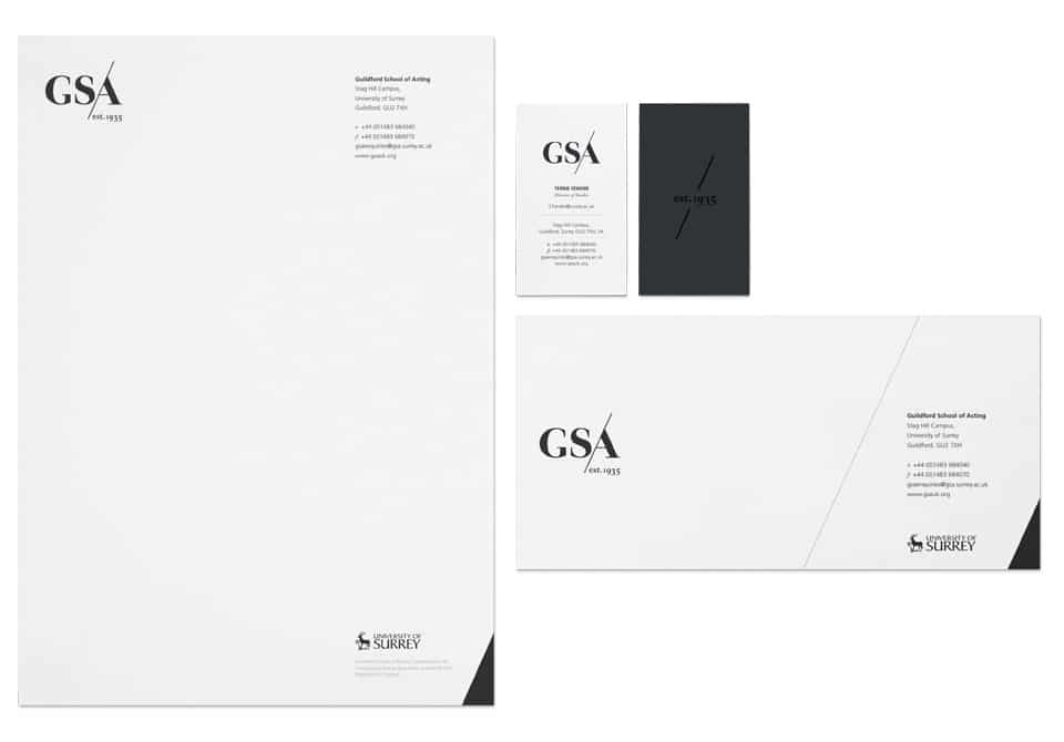 Letterhead, business card and compliment slip