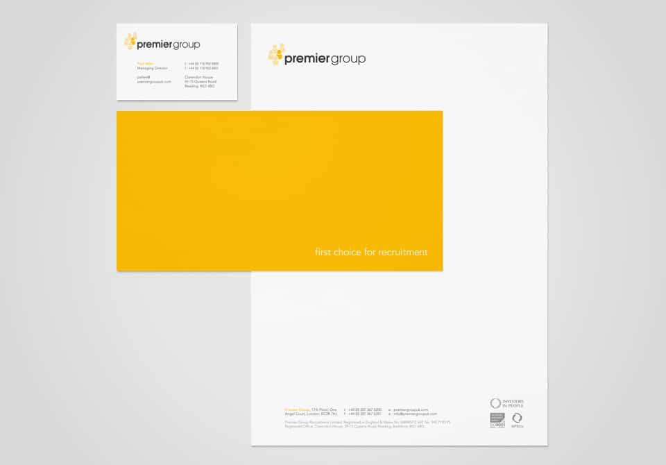 Letterhead, business card and comp slip