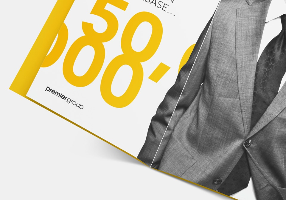 Typography in brochure