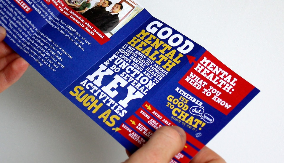 Small fold up leaflet
