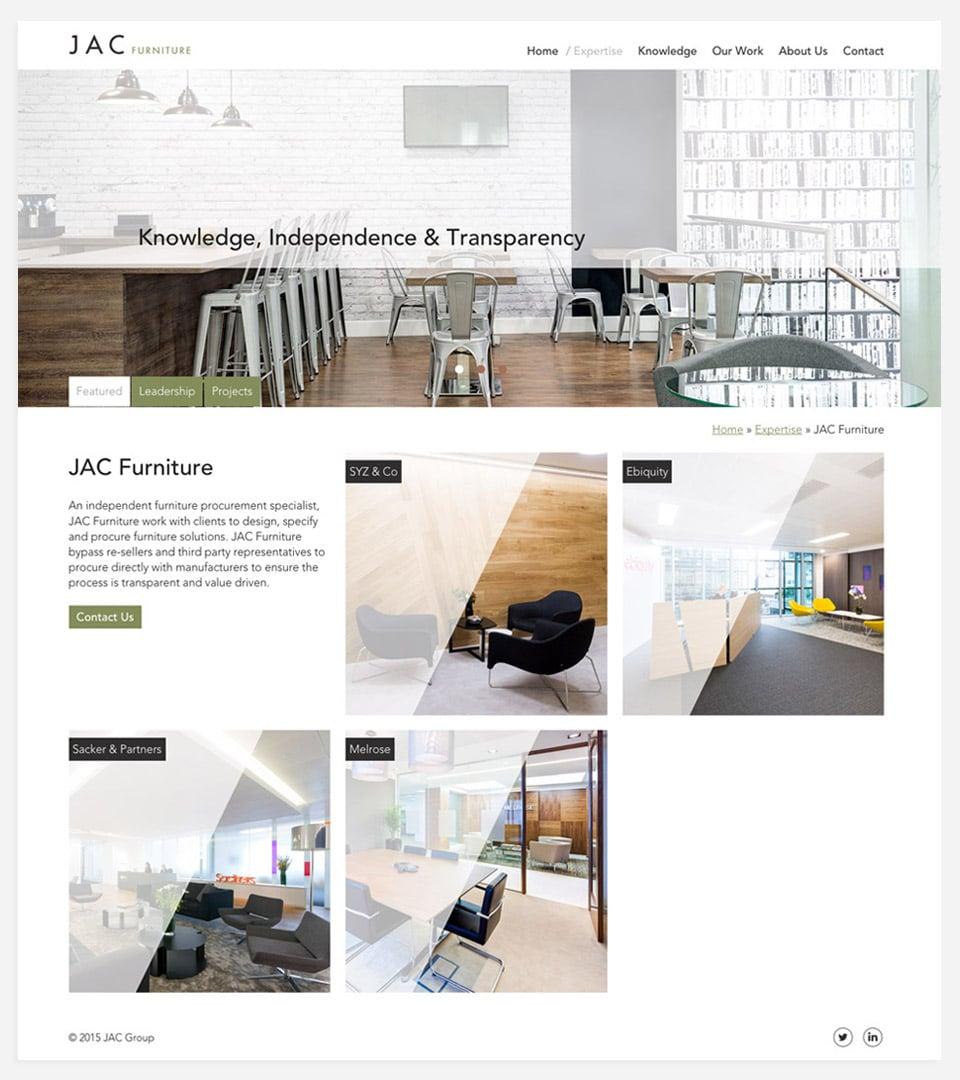 JAC furniture page