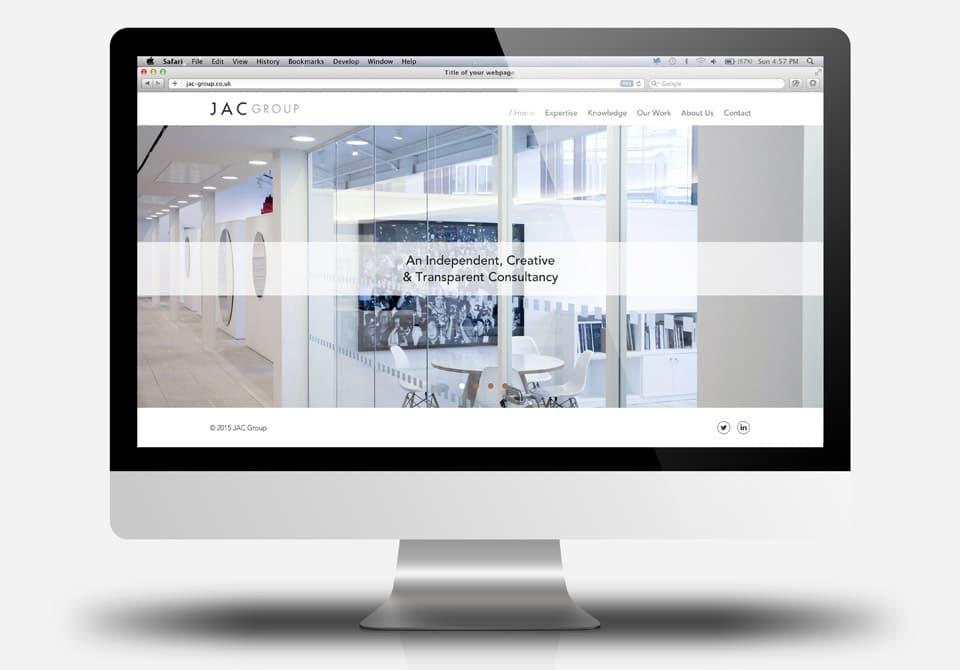JAC website in iMac