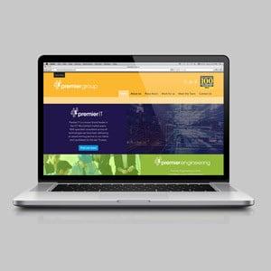 Premier website on laptop