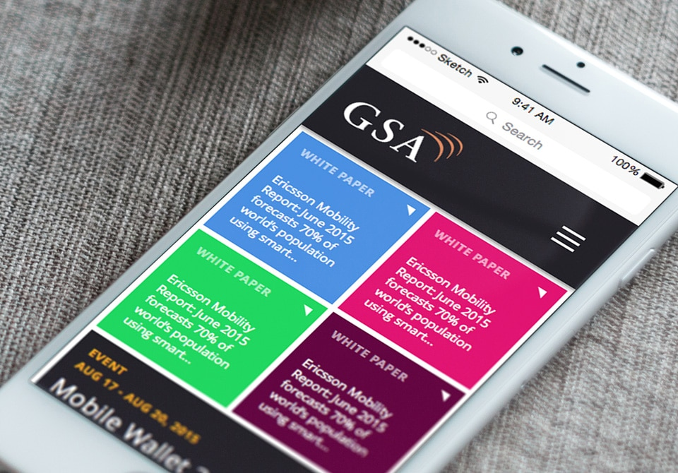 WordPress website for GSAcom