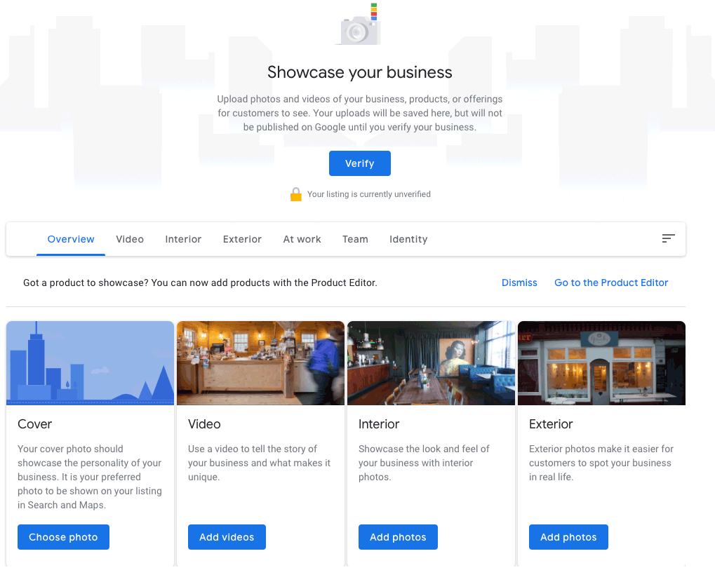Google My Business - add some images